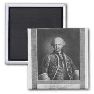 Count of St. Germain, famous alchemist, 1783 2 Inch Square Magnet