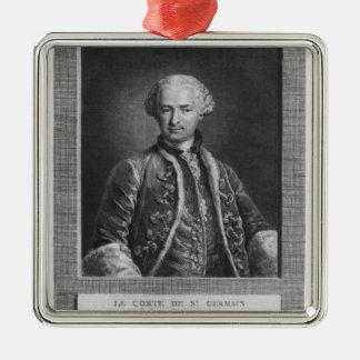 Count of St. Germain, famous alchemist, 1783 Metal Ornament