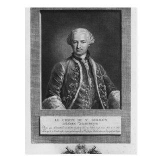 Count of St. Germain, famous alchemist, 1783 Postcard