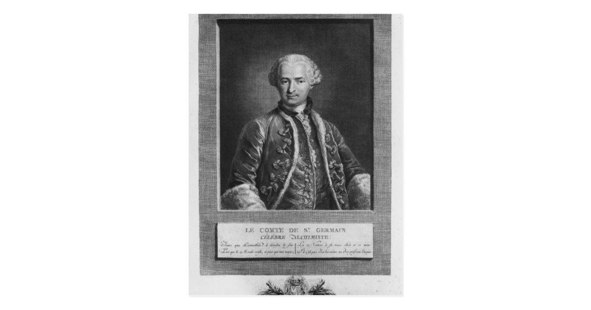 Count of St  Germain, famous alchemist, 1783 Postcard | Zazzle com