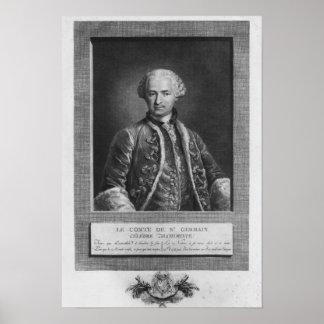 Count of St. Germain, famous alchemist, 1783 Poster