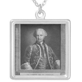 Count of St. Germain, famous alchemist, 1783 Square Pendant Necklace