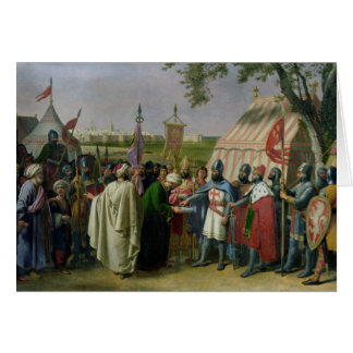 Count of Tripoli accepting the Surrender Greeting Card