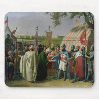 Count of Tripoli accepting the Surrender Mouse Pad