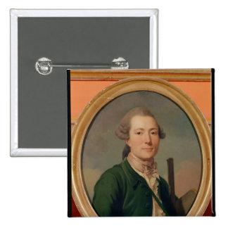 Count Pierre-Francois de Cluzel  in Hunting 2 Inch Square Button