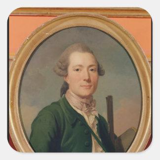 Count Pierre-Francois de Cluzel  in Hunting Square Sticker
