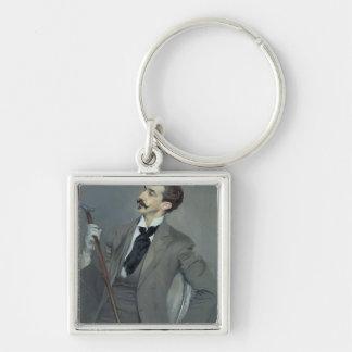 Count Robert de Montesquiou  1897 Silver-Colored Square Keychain