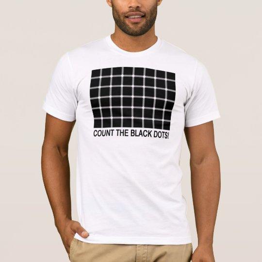 Count the Black Dots interactive shirt! T-Shirt