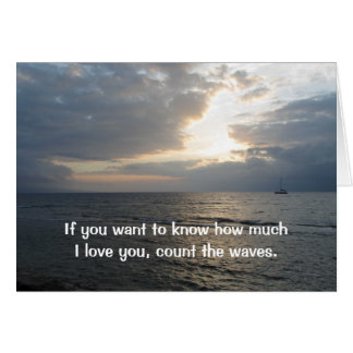 Count The Waves I Love You Card