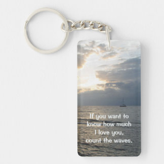 Count The Waves Keychain