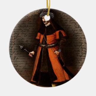 Count Vlad Dracula Ceramic Ornament