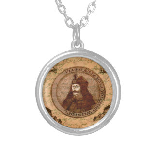 Count Vlad Dracula Silver Plated Necklace