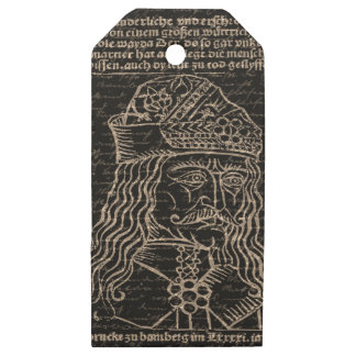 Count Vlad Dracula Wooden Gift Tags