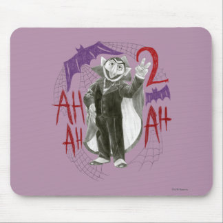 Count von Count B&W Sketch Drawing Mouse Pad