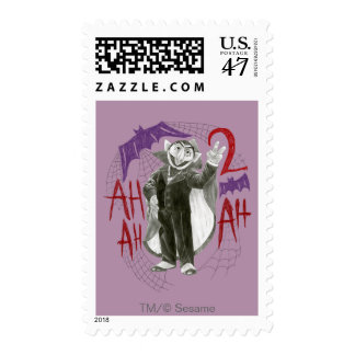 Count von Count B&W Sketch Drawing Postage Stamp