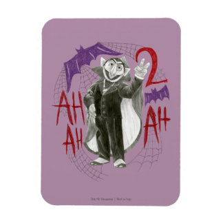 Count von Count B&W Sketch Drawing Rectangle Magnet