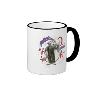 Count von Count B&W Sketch Drawing Ringer Coffee Mug