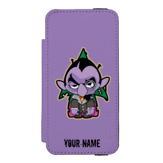 Count von Count Zombie | Add Your Name iPhone SE/5/5s Wallet Case