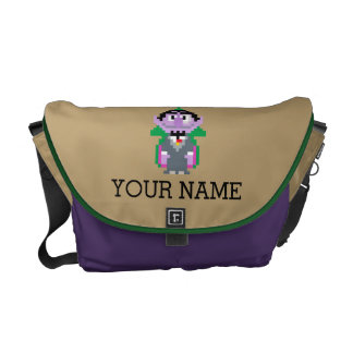 Count von Pixel Art | Add Your Name Messenger Bag