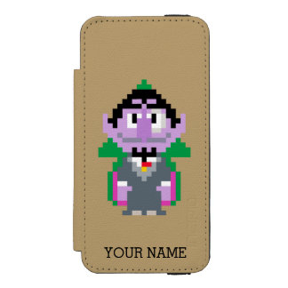 Count von Pixel Art | Add Your Name Wallet Case For iPhone SE/5/5s