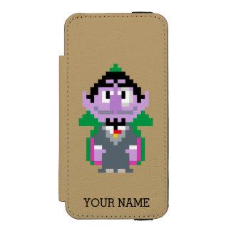 Count von Pixel Art Wallet Case For iPhone SE/5/5s