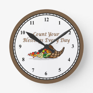 Count Your Blessings2 Round Clock