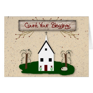 Count Your Blessings Church Card