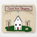 Count Your Blessings Church Mousepad
