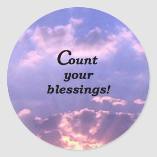 Count Your Blessings Classic Round Sticker