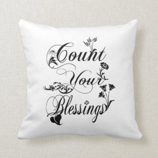 Count Your Blessings Custom Throw Pillow