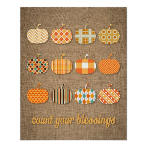 Count Your Blessings Fall Sign