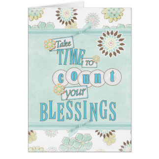 Count your Blessings Gretting Card
