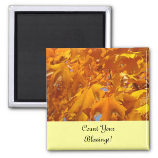 Count Your Blessings! magnets for fridge Leaves