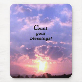 Count Your Blessings Mouse Pad