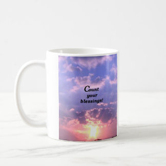 Count Your Blessings! Classic White Coffee Mug