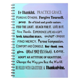 count your blessings notes spiral notebook