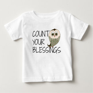 Count Your Blessings Owl Baby T-Shirt