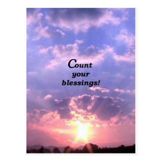 Count Your Blessings Postcard