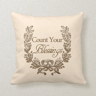 Count Your Blessings Throw Pillow