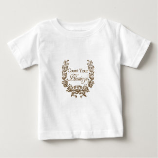 count your blessings vintage typography baby T-Shirt