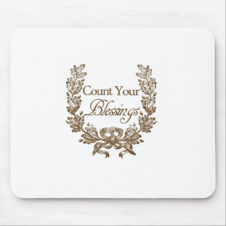 count your blessings vintage typography mouse pads