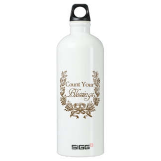 count your blessings vintage typography SIGG traveler 1.0L water bottle