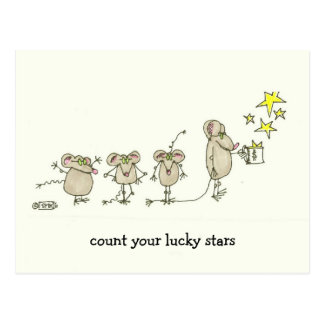 COUNT YOUR LUCKY STARS POSTCARD
