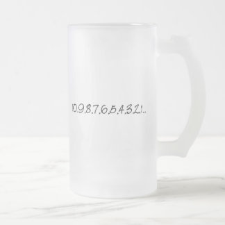 Countdown Frosted Glass Beer Mug