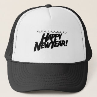 Countdown Happy New Year Trucker Hat