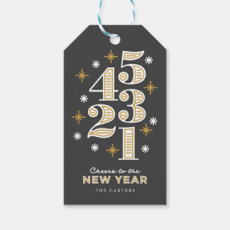 Countdown New Year's Gift Tags