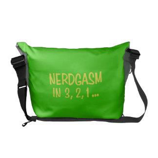 Countdown to Nerdgasm - Green Background Courier Bag