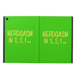 Countdown to Nerdgasm - Green Background Cover For iPad Air