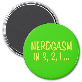 Countdown to Nerdgasm - Green Background Refrigerator Magnet