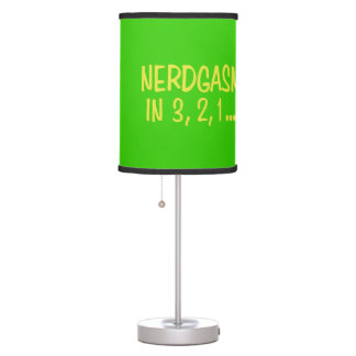 Countdown to Nerdgasm - Green Background Table Lamp